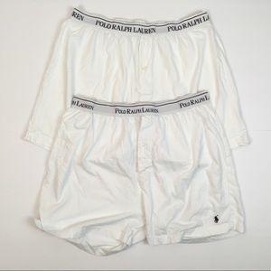 Ralph Lauren Men's Underwear, White Boxers